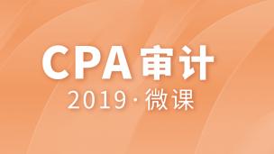 2019年CPA审计微课 (课程语音框架)