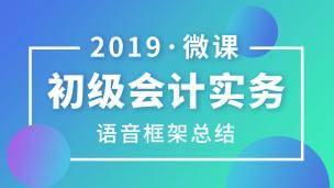 2019 初级 会计实务 语音微课